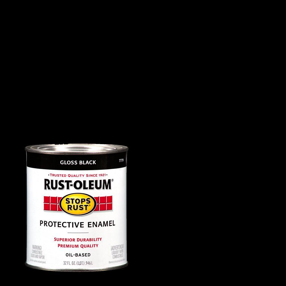 black rust oleum stops rust protective enamels 64 1000