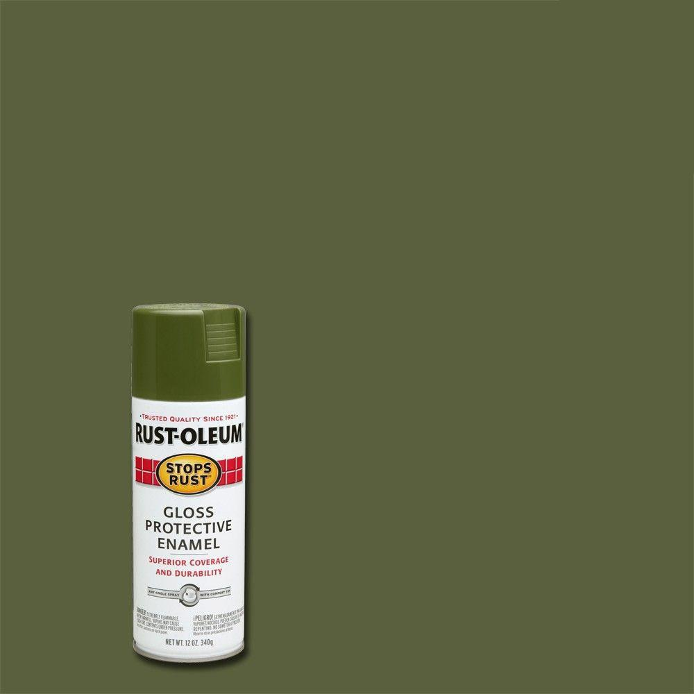 army green rust oleum stops rust general purpose spray paint 64 1000