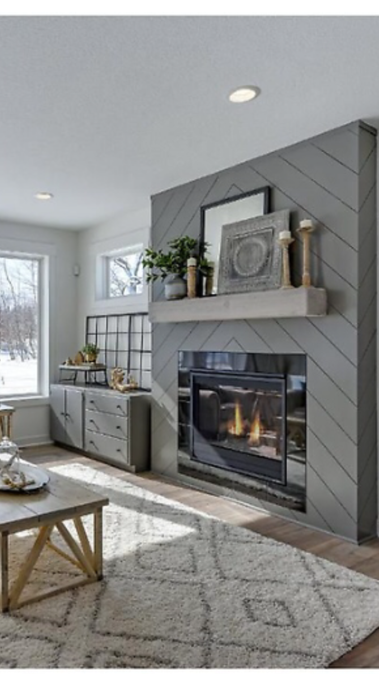 Shiplap Fireplace Ideas Awesome Future Fireplace Love the Herringbone Shiplap On This