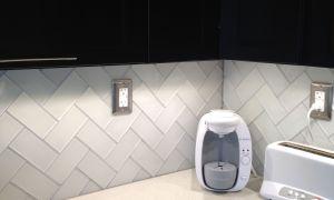 35 Awesome Subway Tile Backsplash Herringbone