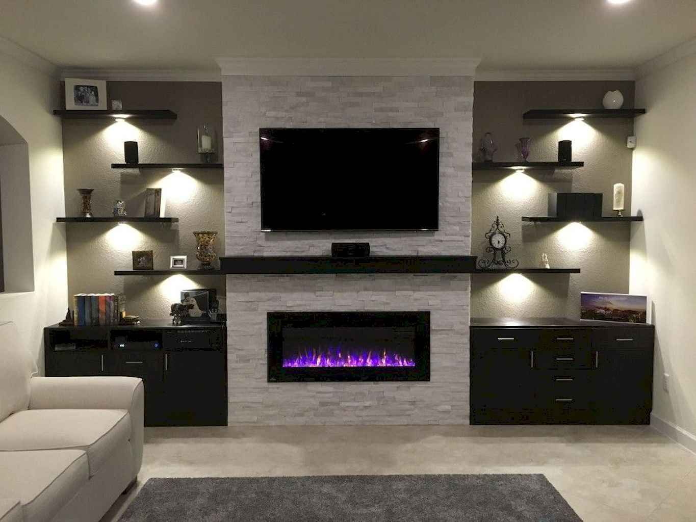 Tv Fire Wall New 50 Diy Floating Shelves for Living Room Decorating