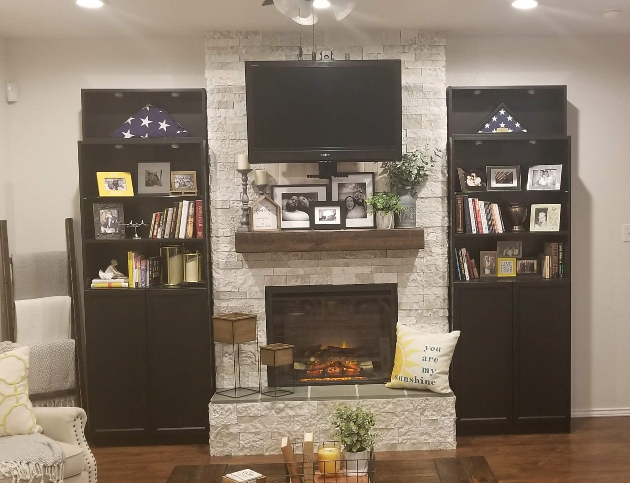 built in electric fireplace and tv design step by step instructions on how to create a beautiful from built in electric fireplace and tv design