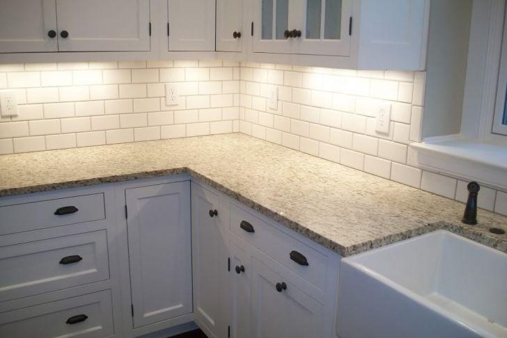 White Subway Tile Backsplash Awesome White Tile Kitchen Backsplashes