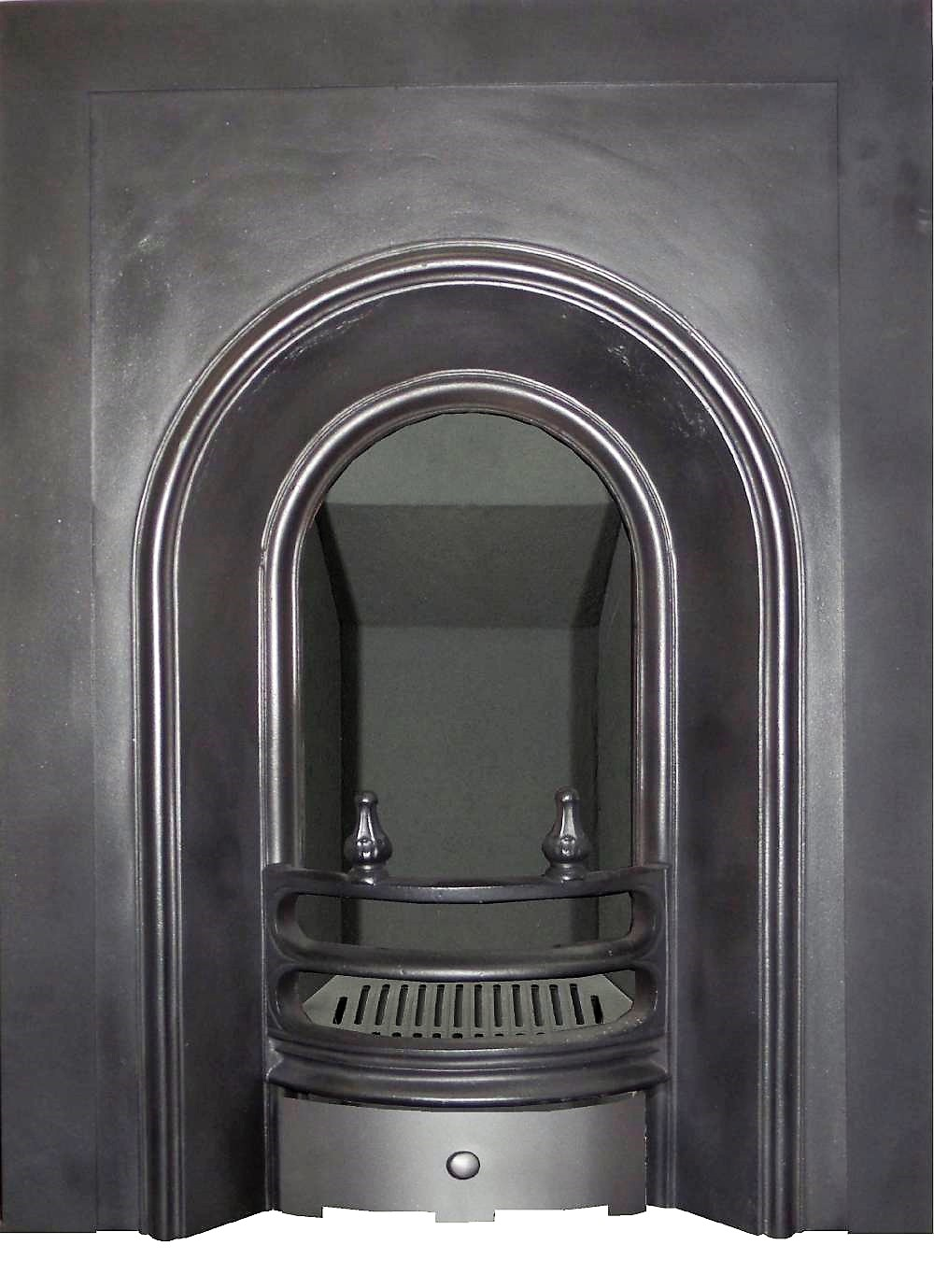 AAI632 victorian arched with log holders cast iron fireplace insert