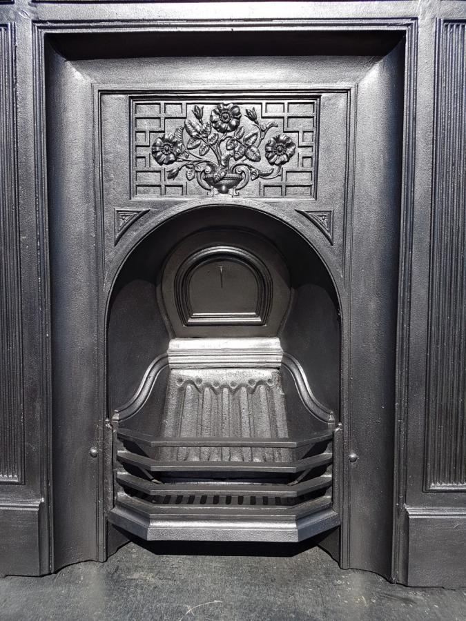 7936 102 cast iron fireplace surround arched antique victorian c1882