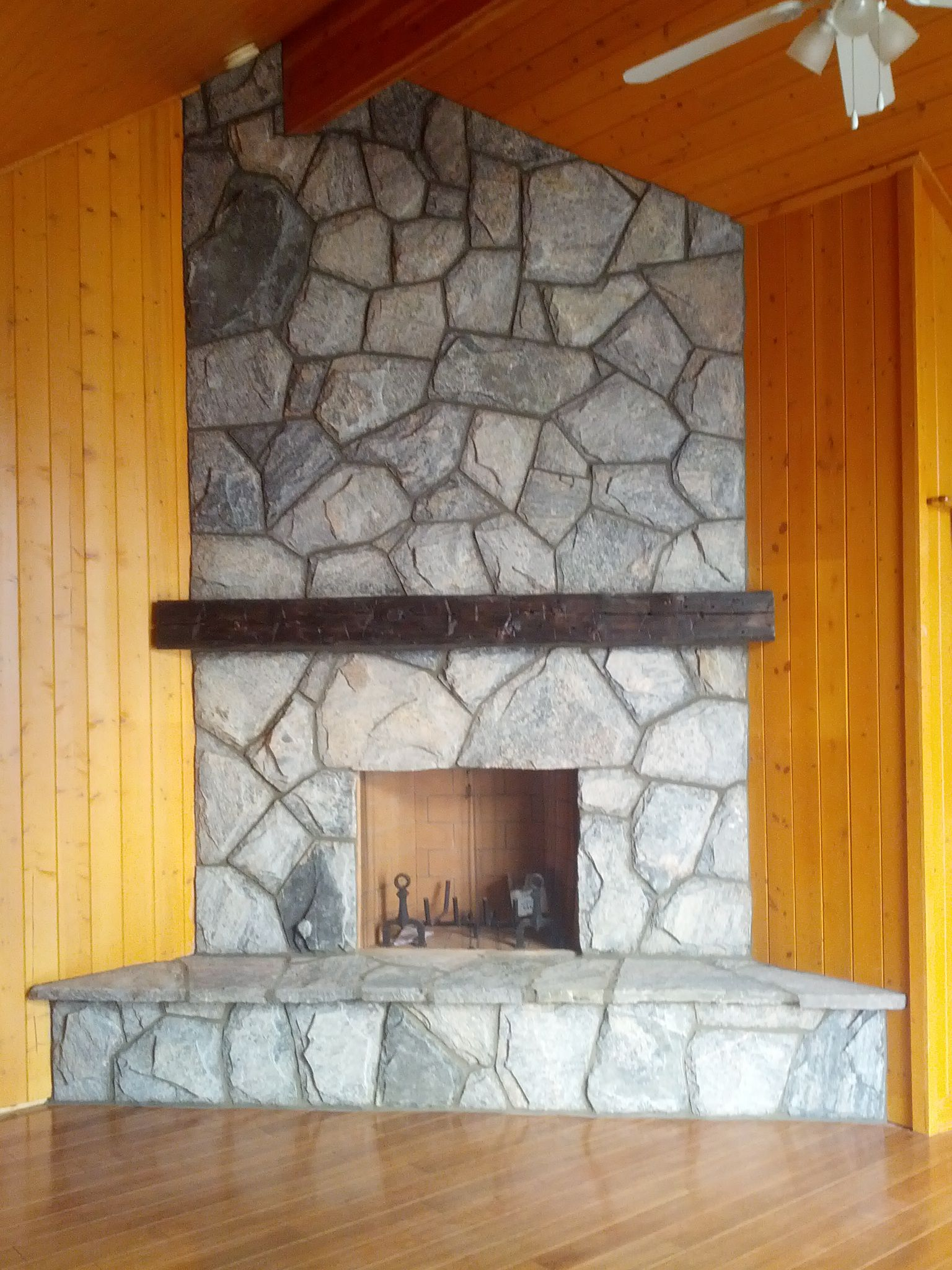 FMI Wood Fireplace Stone