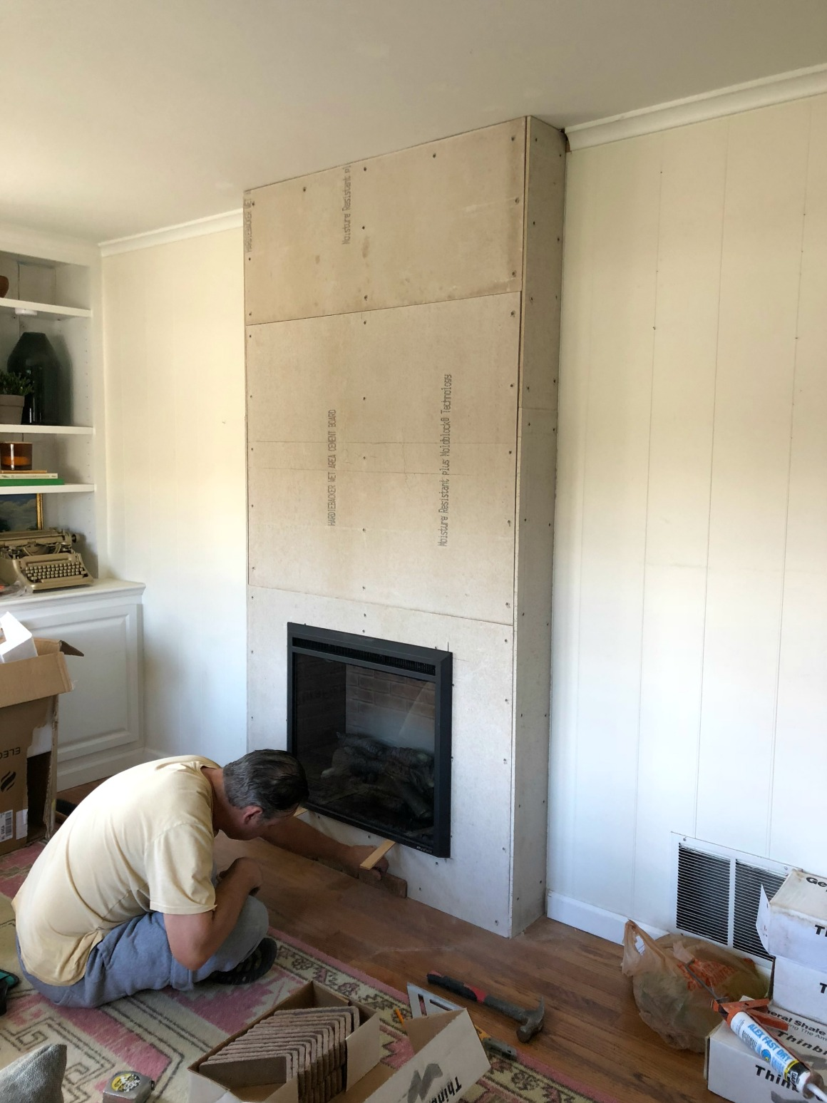Electric Fireplace with Bookcase Beautiful Fireplace Reveal Our Electric Brick Fireplace Nesting
