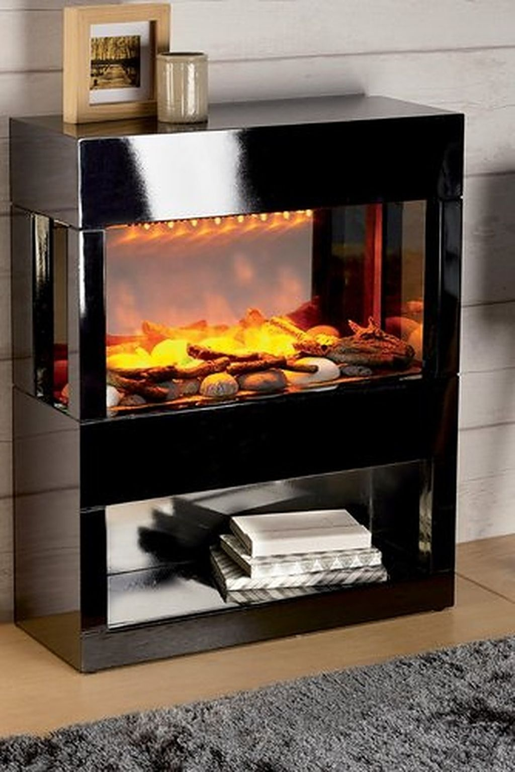 Electric Fireplace with Bookcase Unique Black Electric Fire Place Fireplace Bookcase
