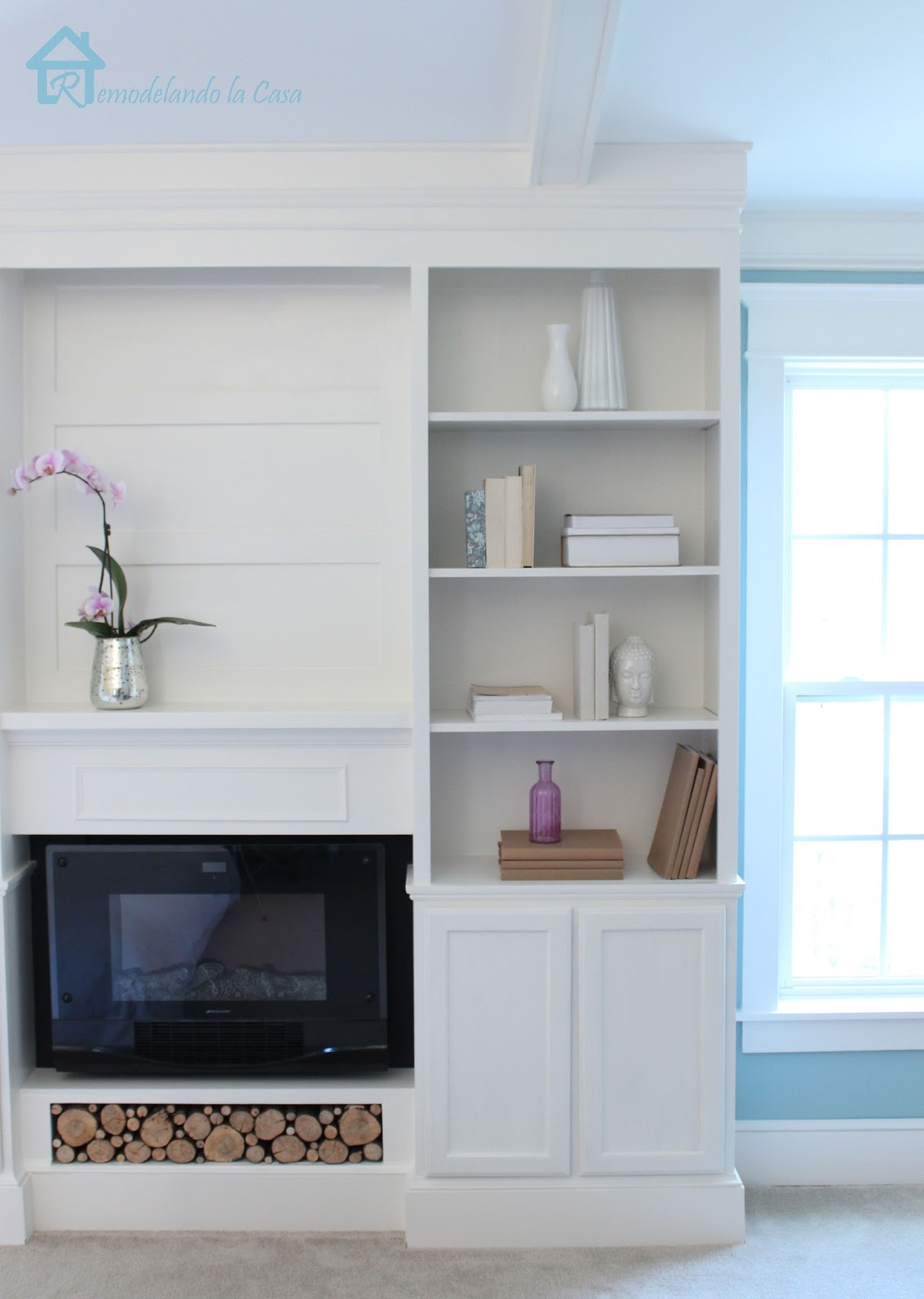 DIY Bookcases with fireplace4
