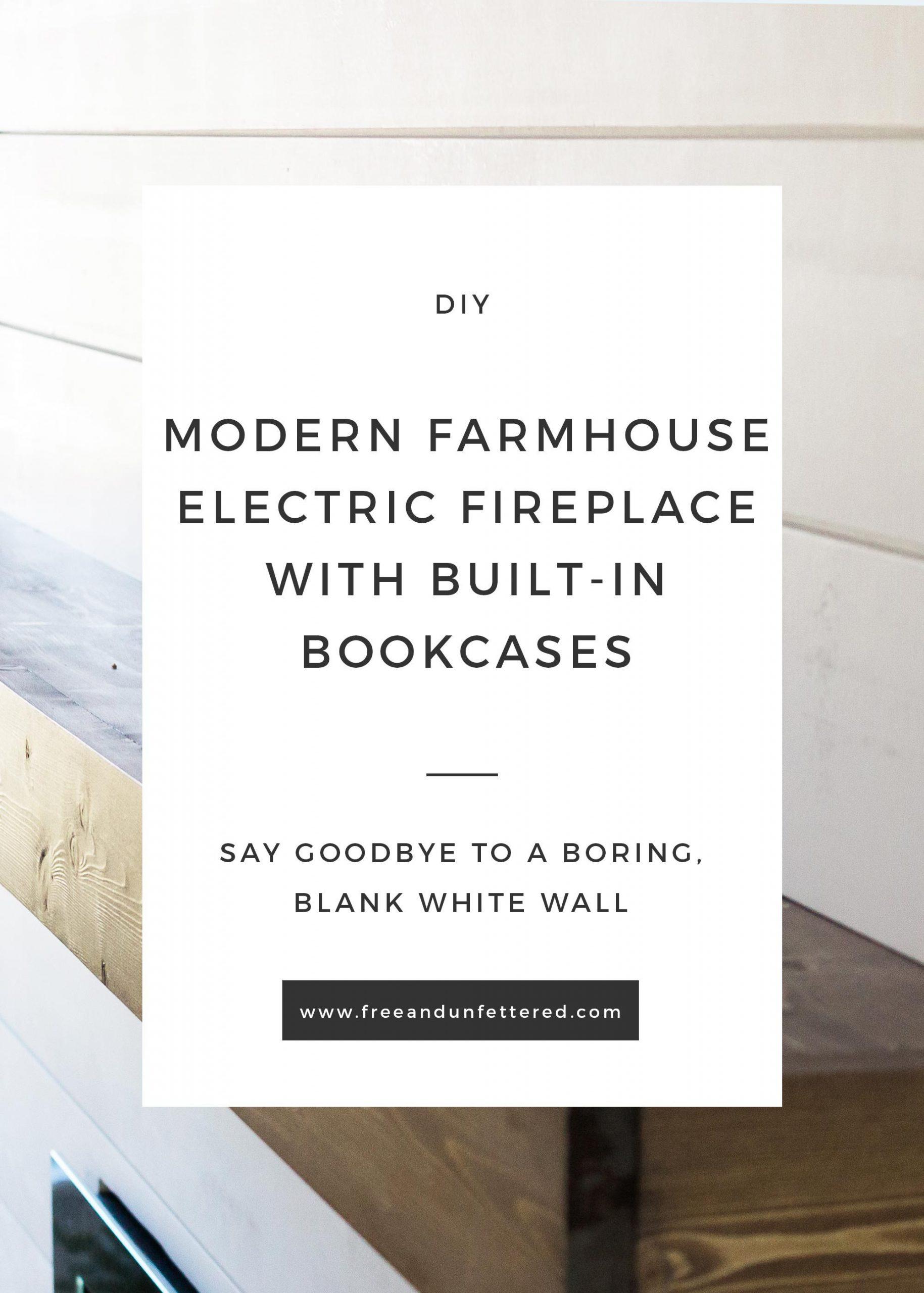 diy modern farmhouse electric fireplace