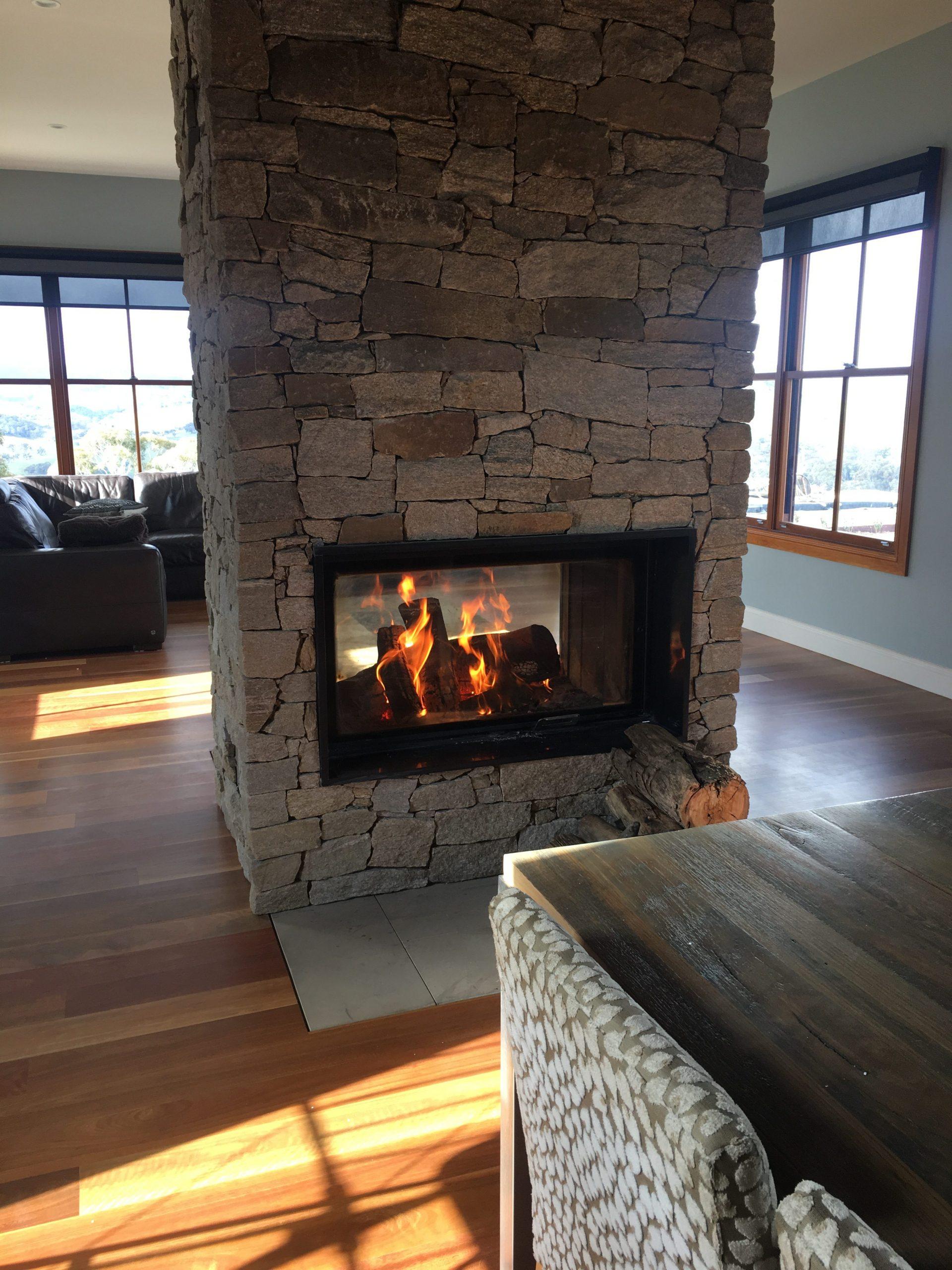 Double Sided Fireplace e