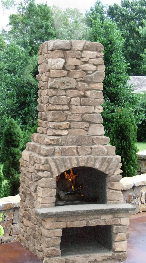 stone age manufacturing 18 veranda outdoor fireplace kit with arched lintel 6