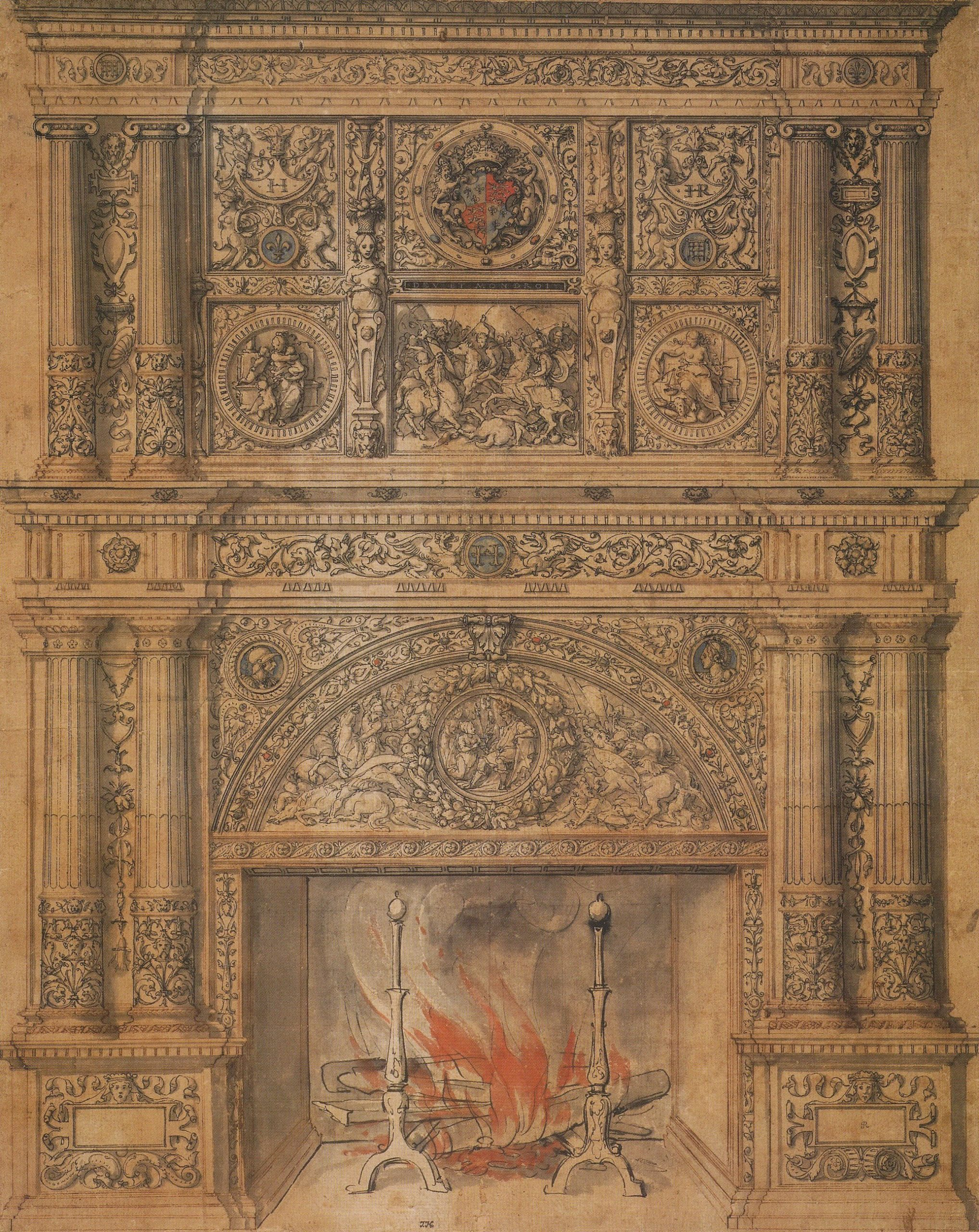 File Chimney piece design by Hans Holbein the Younger