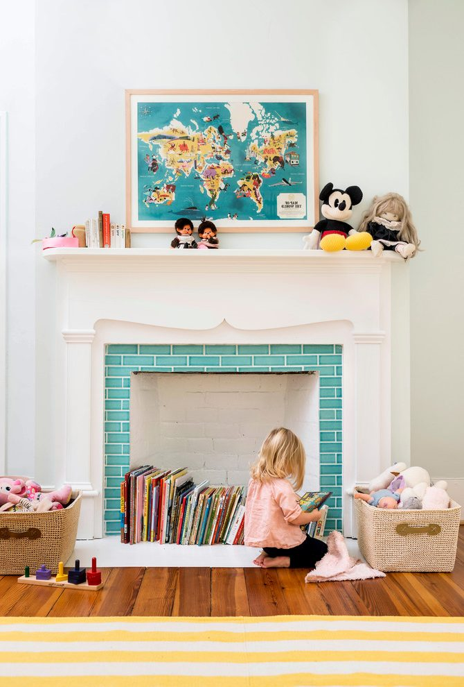 fireplace bookshelf ideas kids traditional with reused ride