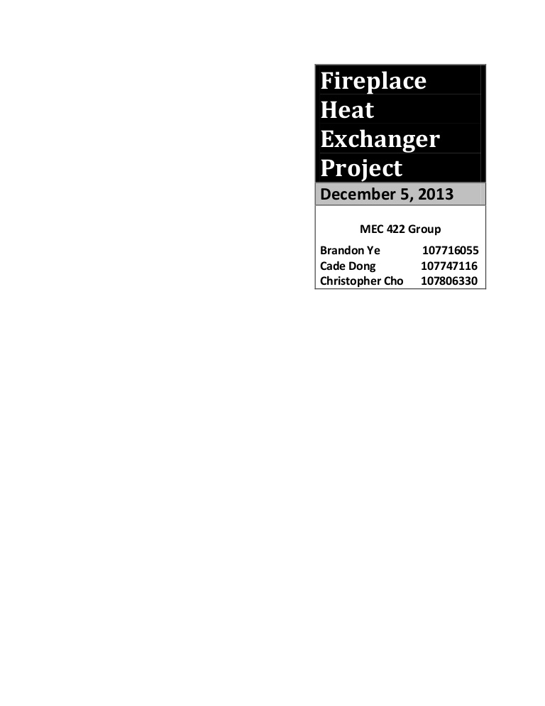 mec 422 fireplace heat exchanger project