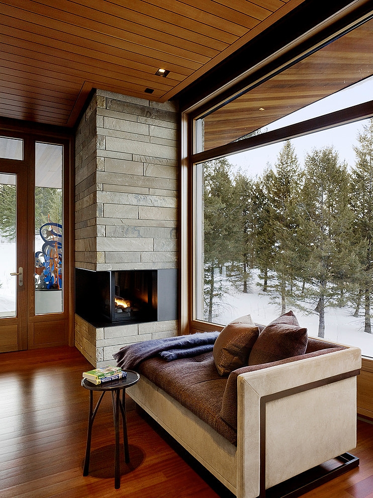 Fireplace Rocks Beautiful Built In Corner Fireplace Rocks the Room Captivatist