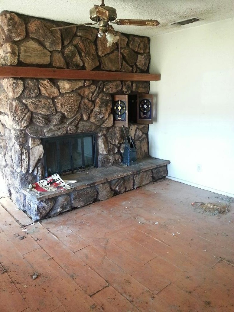 Fireplace Rocks Beautiful Painting Huge Rock Fireplace