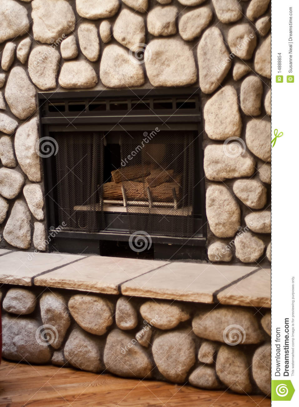 Fireplace Rocks Fresh Gas Fireplace with Big Rocks Wall Stock Image Of