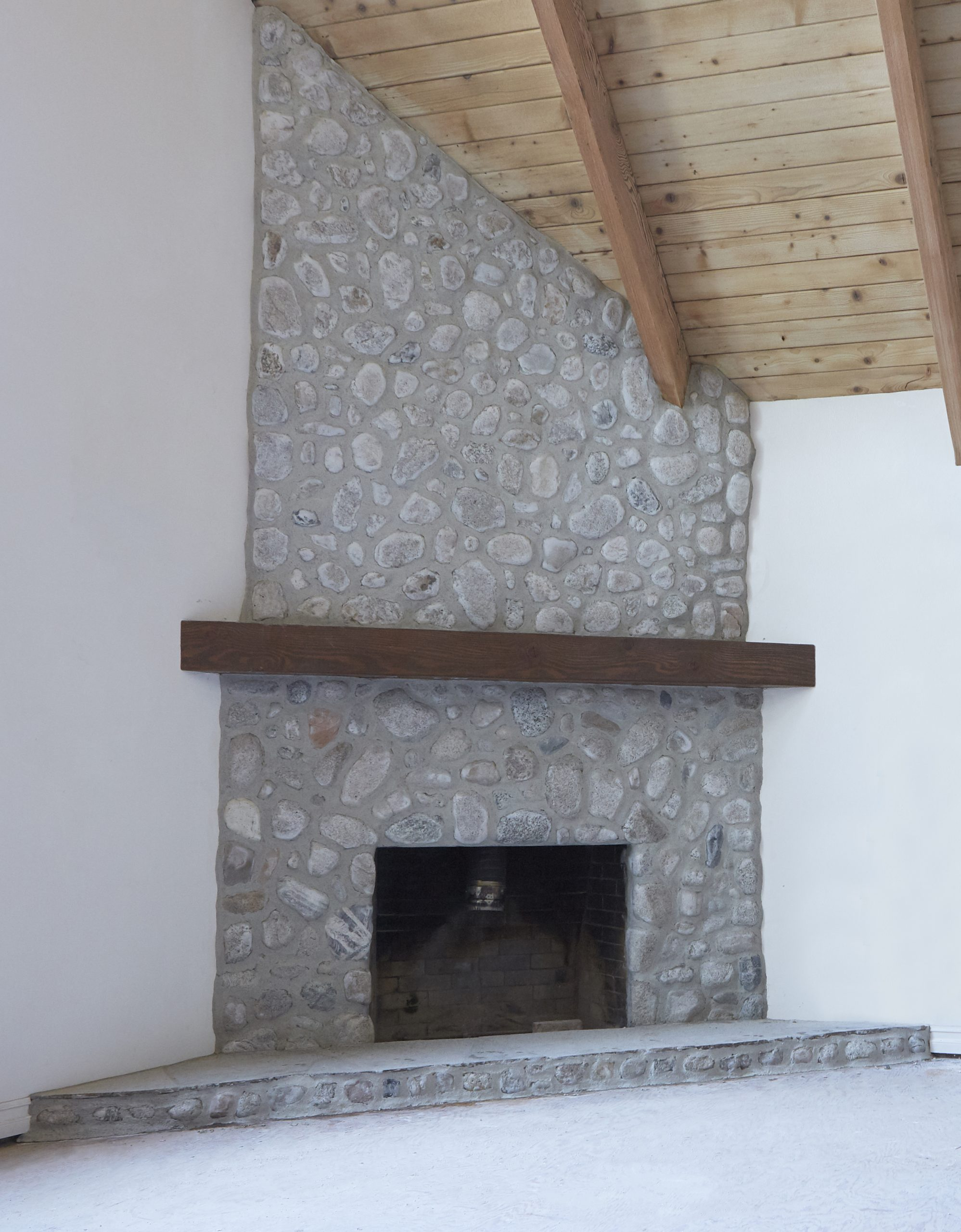 Fireplace Rocks Inspirational Makeover How We Replastered Our Mountain House Stone Fireplace