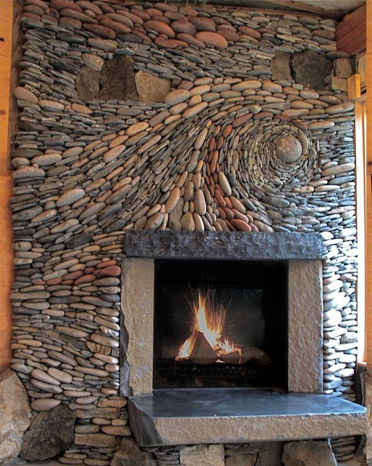 Fireplace Rocks Lovely Magnificent Rock Fireplace with Art Deco touch and Stone