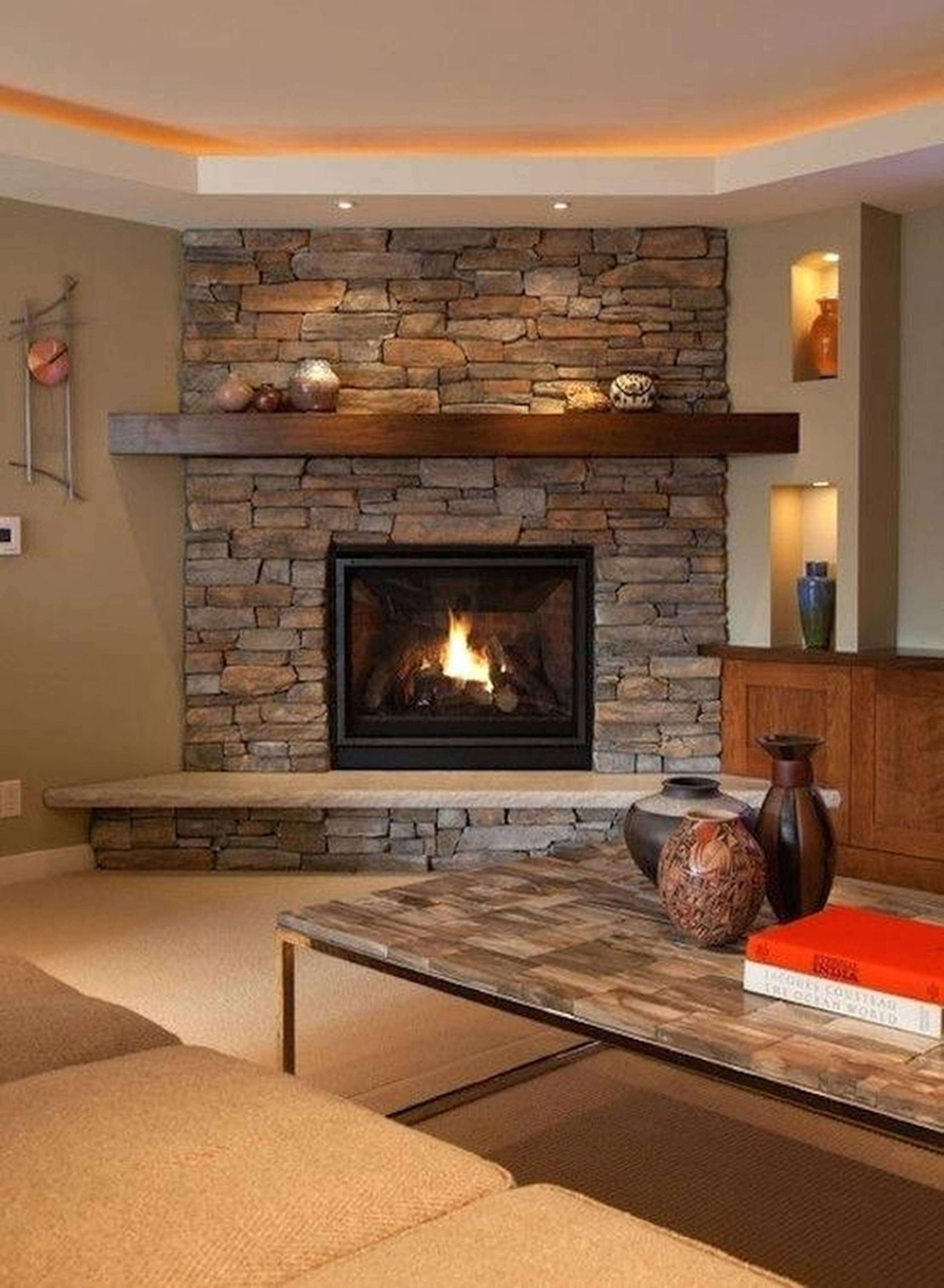 corner stone fireplace ideas 1