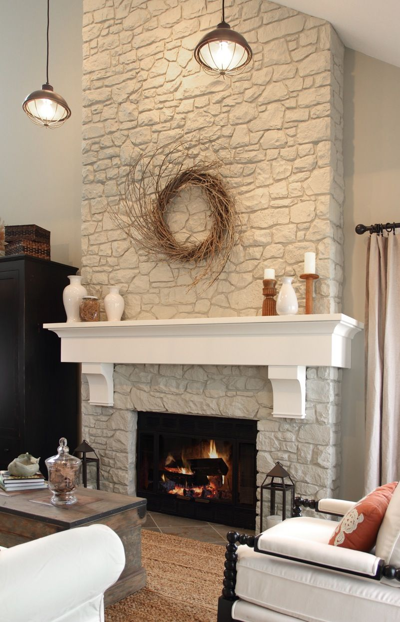 Fireplace Rocks New Paint Fireplace Rock Out White Add Reclaimed Wood Mantle or