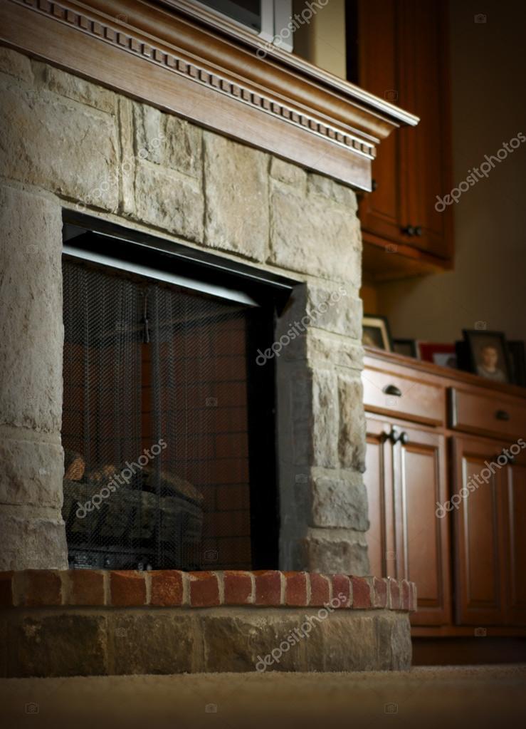 Metal Fireplace Mantel Lovely Fireplace Mantel — Stock © Rickster0072