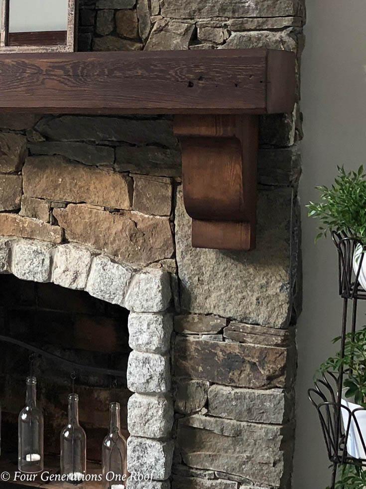 How to install a wooden beam mantel 15