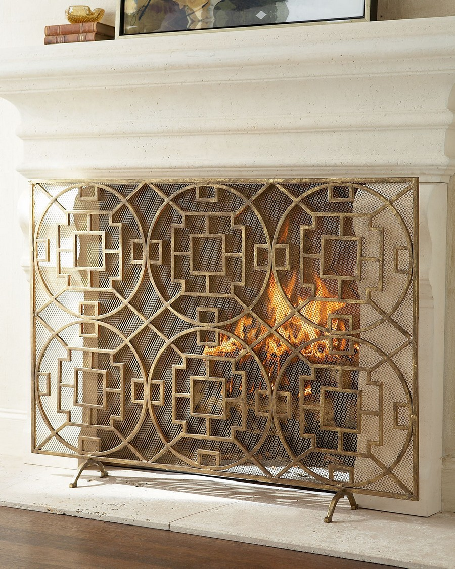 decorative fireplace screen ideas 1