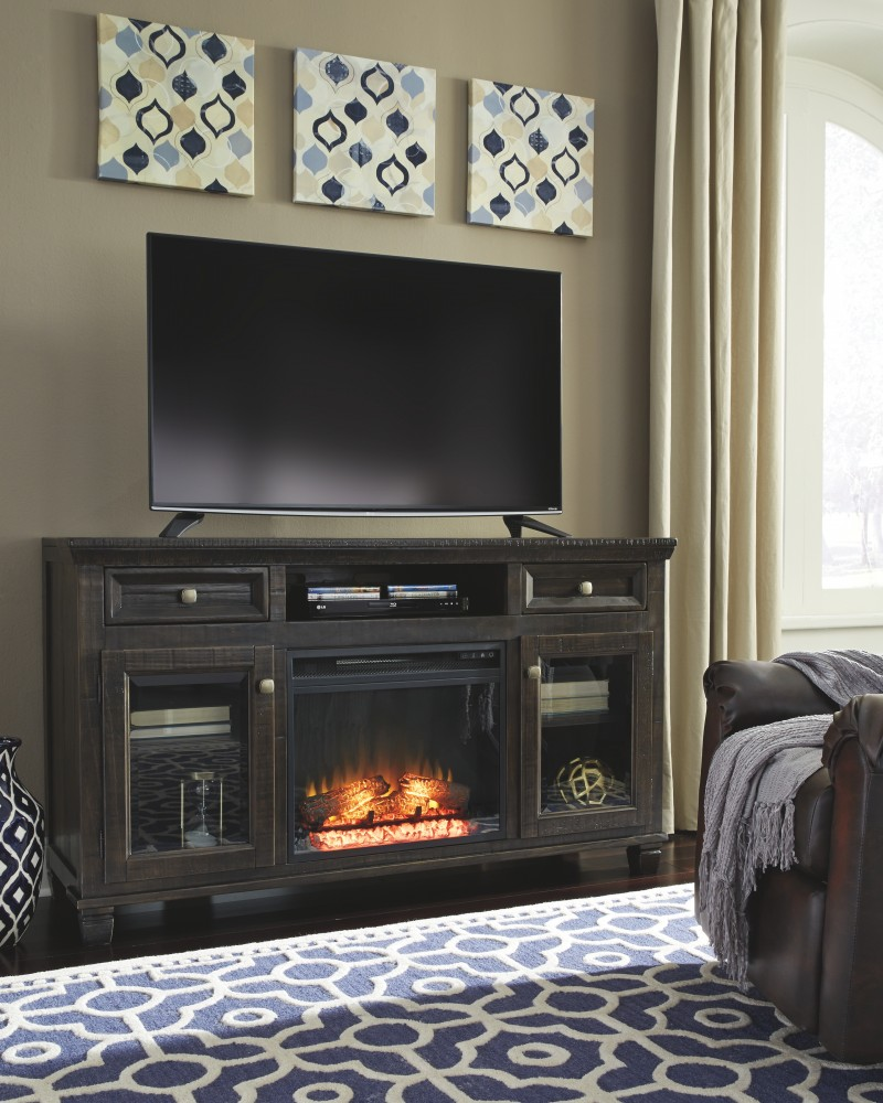 townser tv stand with fireplace 0