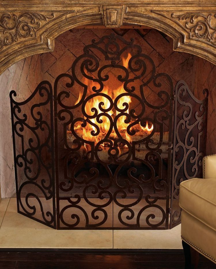 Wrought Iron Fireplace Screens Unique Pin by Carolyn Malin On Fireplaces