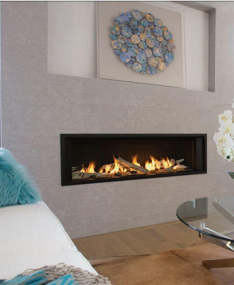 "Boulevard Fireplace Lovely L2 Linear 50"" Wide Linear Fireplace"
