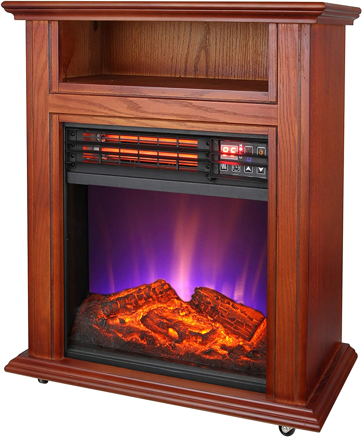 Charm Glow Electric Fireplace Best Of fort Glow Qf4561r Electric Quartz Fireplace