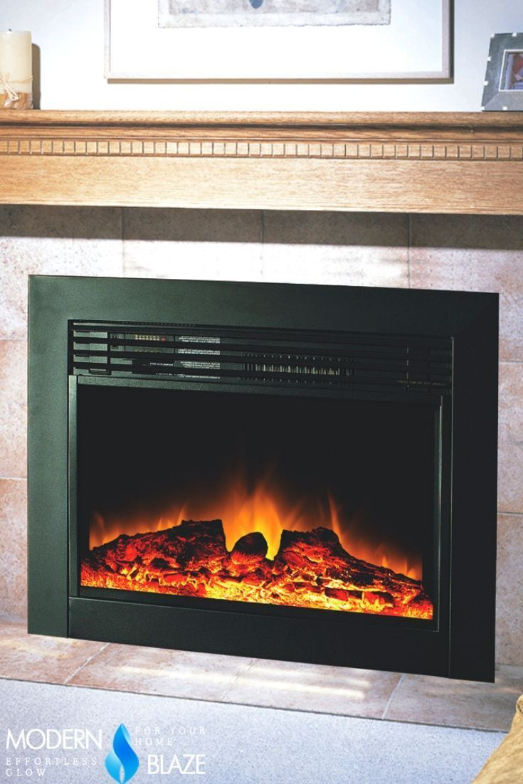 Charm Glow Electric Fireplace Elegant Perfect Electric Insert to Replace Your Gas Log Set or A