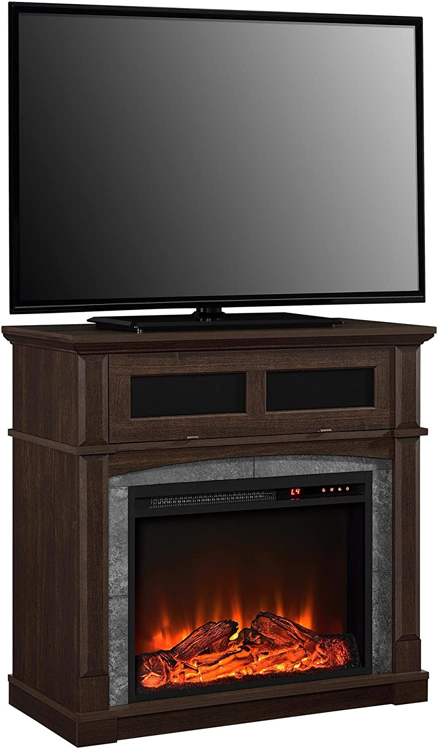 "Cherry Fireplace Tv Stand Beautiful Ameriwood Home Thompson Place Media Fireplace for Tvs Up to 37"" Cherry"