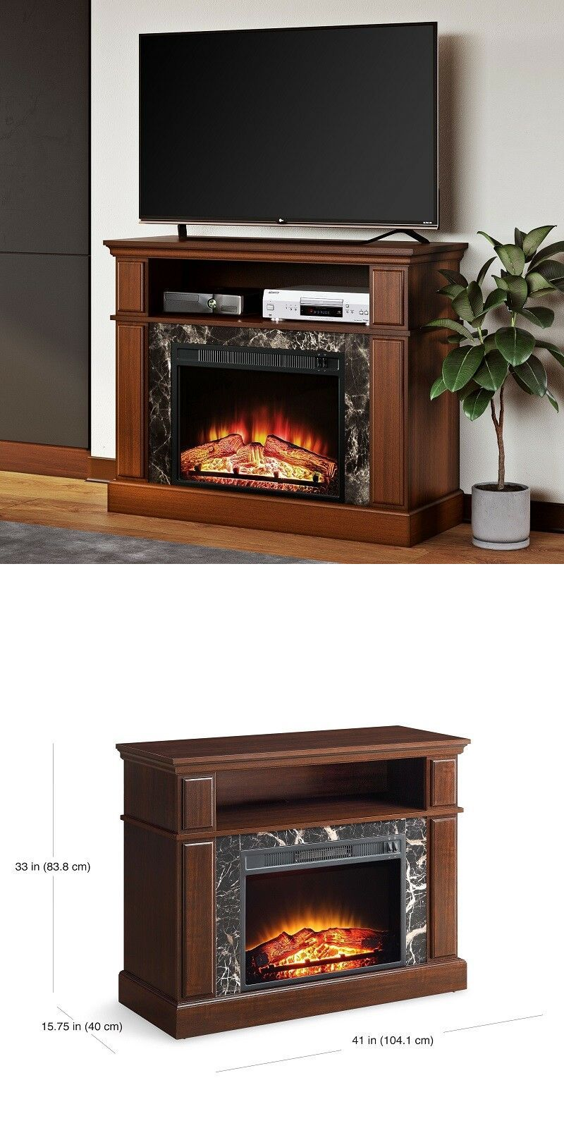 Cherry Fireplace Tv Stand Best Of Entertainment Units Tv Stands Mainstays Loring Media