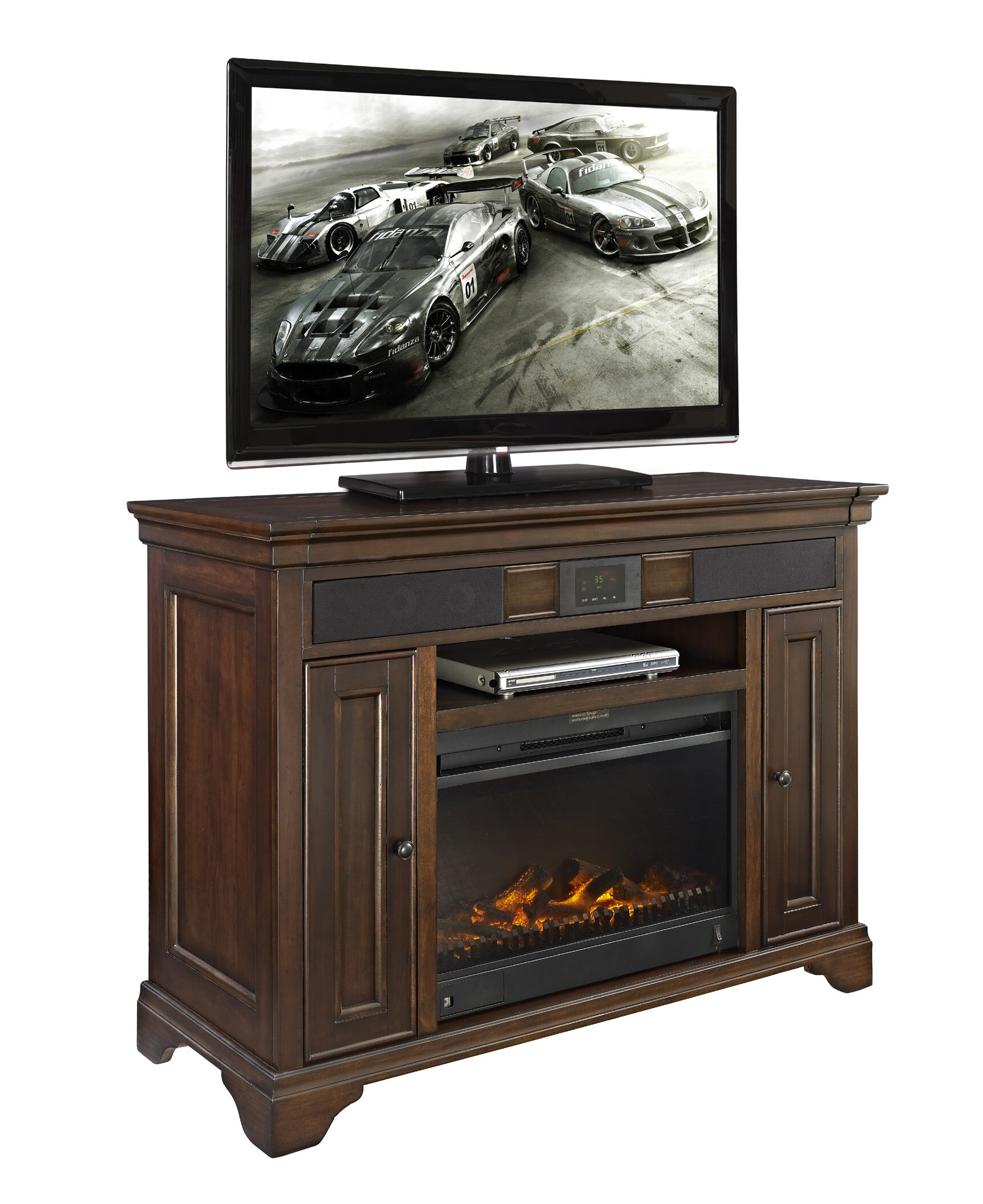 charlton home grigor tv stand for tvs up to 55 with fireplace included w