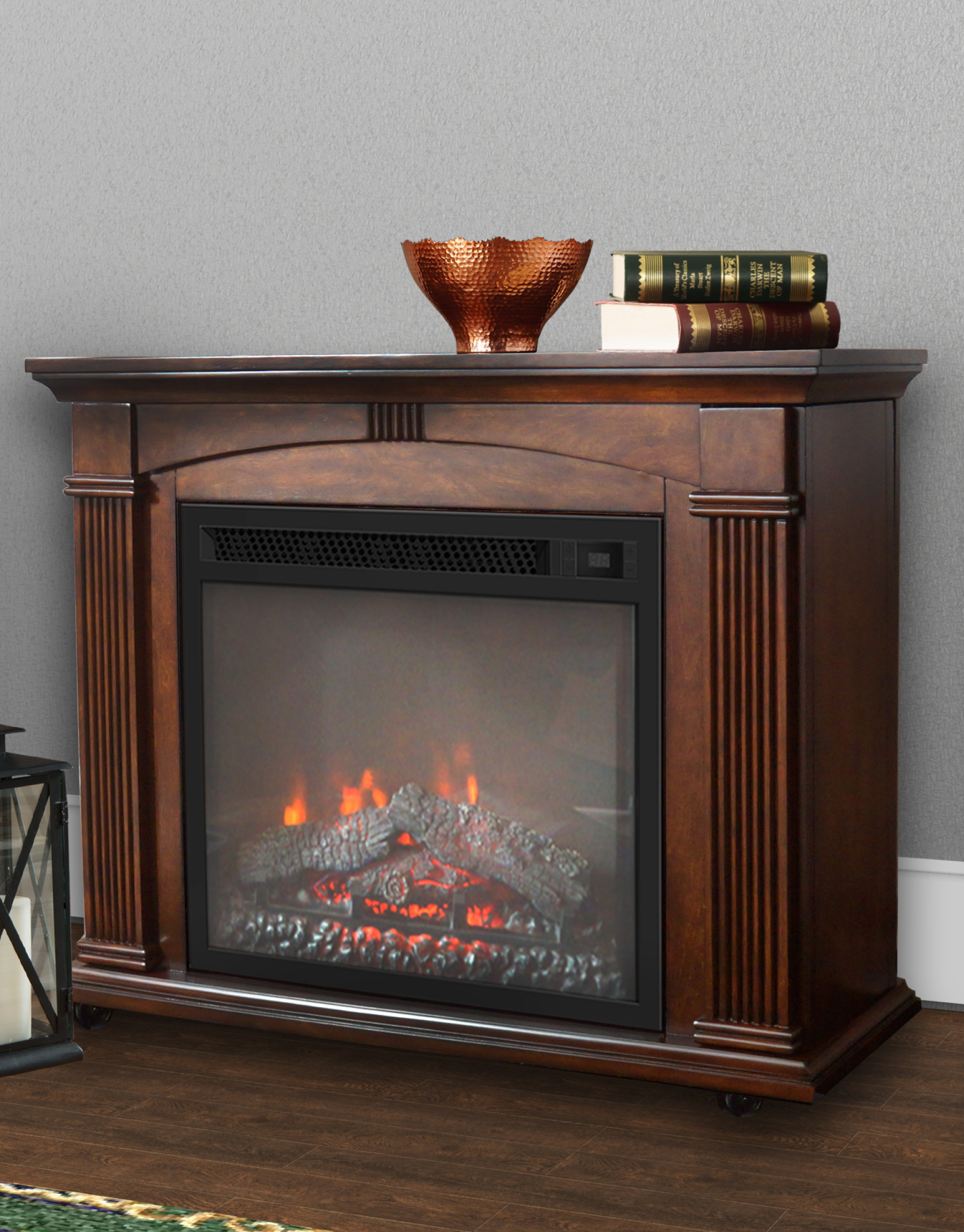 Cherry Fireplace Tv Stand Inspirational Prokonian 37 Inch Mantel Electric Fireplace In Cherry