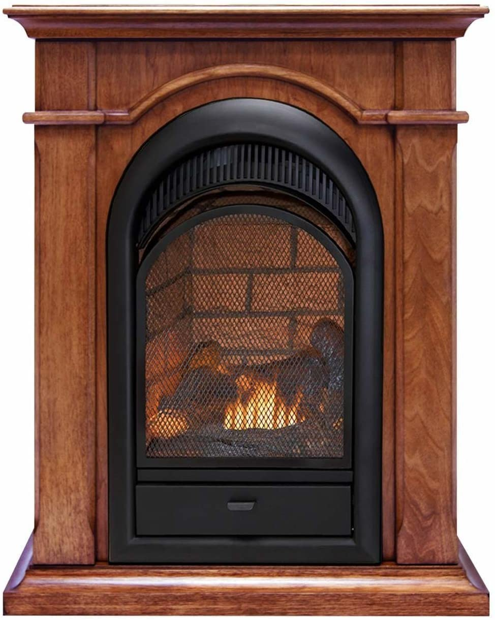 Dual Fuel Fireplace Beautiful Duluth forge Dual Fuel Ventless Fireplace with Mantel 15 000 Btu T Stat Apple Spice Mantel