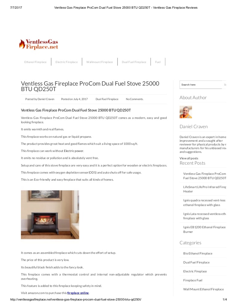 ventless gas fireplace pro dual fuel stove btu qd250t ventless gas fireplace reviews
