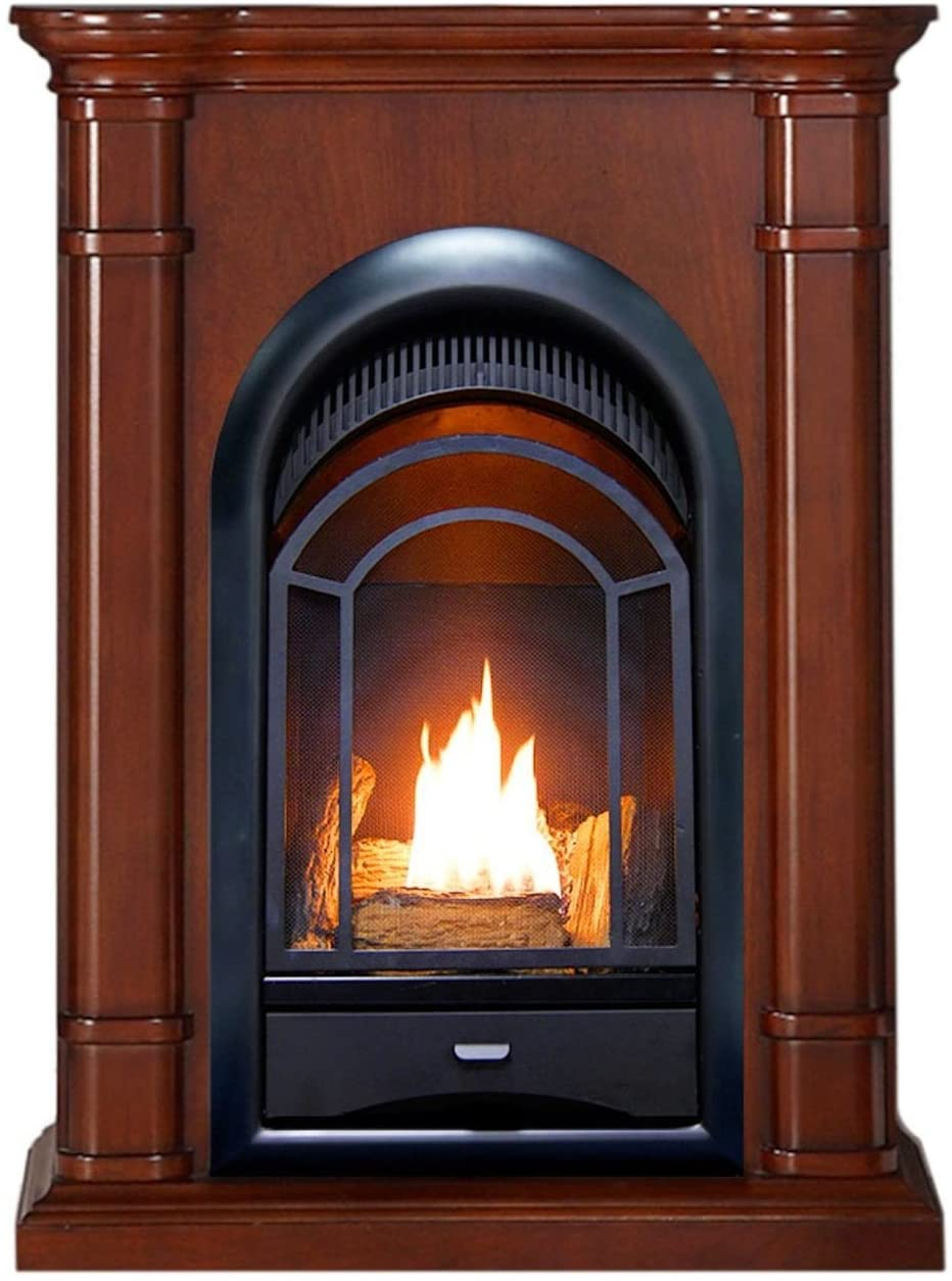 Dual Fuel Fireplace Luxury Amazon Pro Walnut Ventless Fireplace System 10k Btu