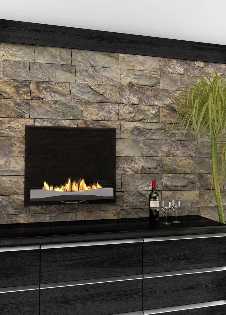 "Ethanol Wall Mounted Fireplace Beautiful Decoflame atlantic Wave 27"" Black Wall Mounted Ethanol Fireplace"