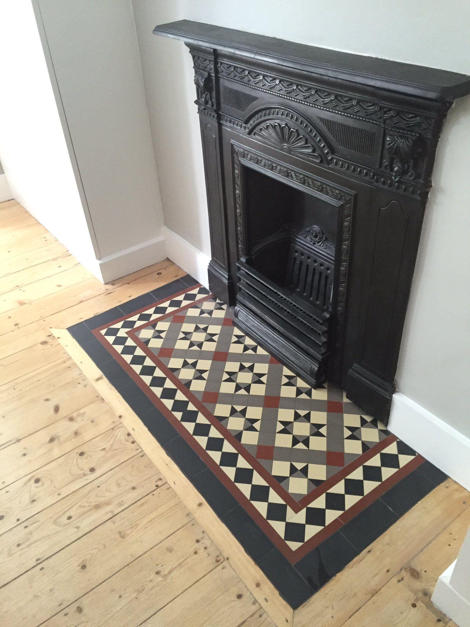Fireplace Floor Elegant Victorian Floor Tiles