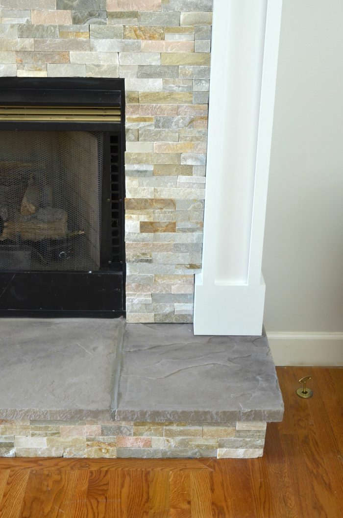 Fireplace Floor Fresh Diy Fireplace Makeover at Home with the Barkers