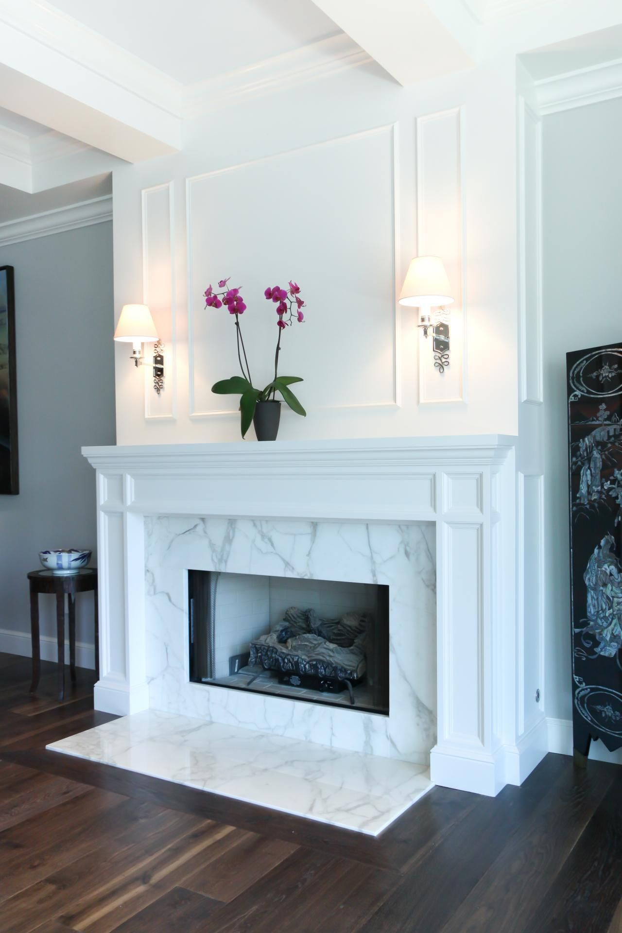 Fireplace Floor Lovely Dark Hardwood Floors Pair with A Striking Marble Fireplace