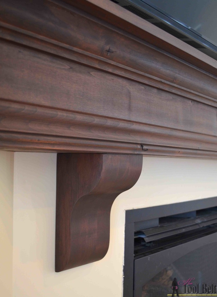 DIY Fireplace mantel corbels 747x1024