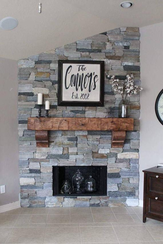 fireplace mantel 66 with corbels chunky