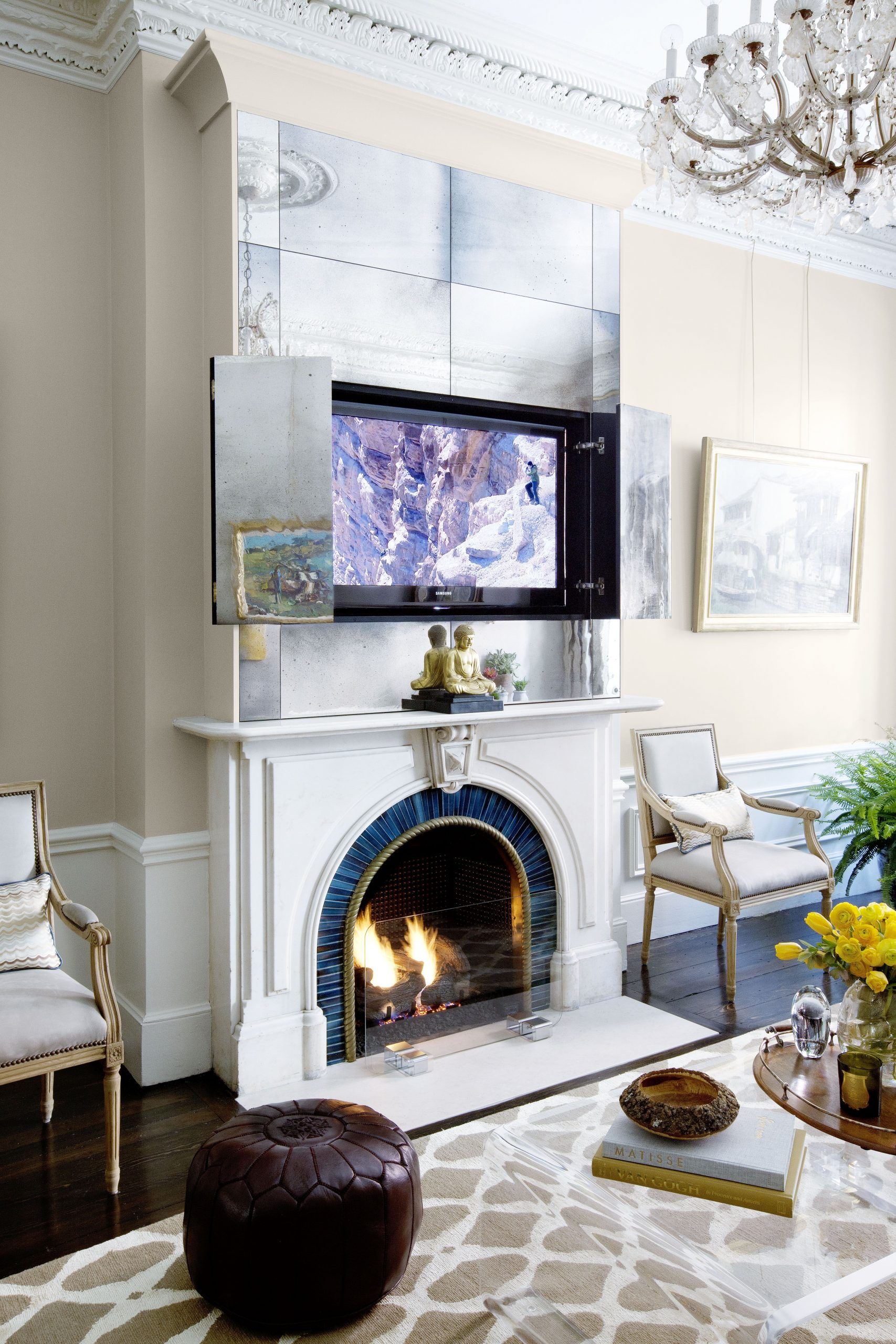 Fireplace Nook Tv Mount Best Of 13 Clever Hidden Tv Ideas How to Hide A Tv According to
