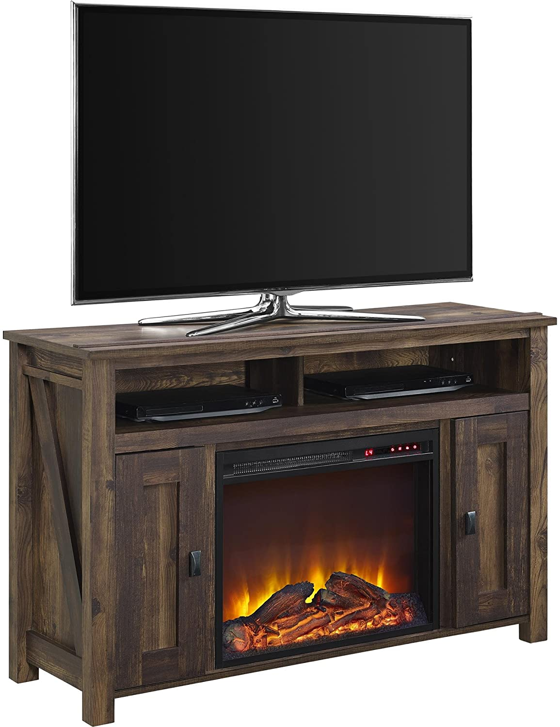 """Fireplace Reflectors Elegant Ameriwood Home Farmington Electric Fireplace Tv Console for Tvs Up to 50"""" Rustic"""