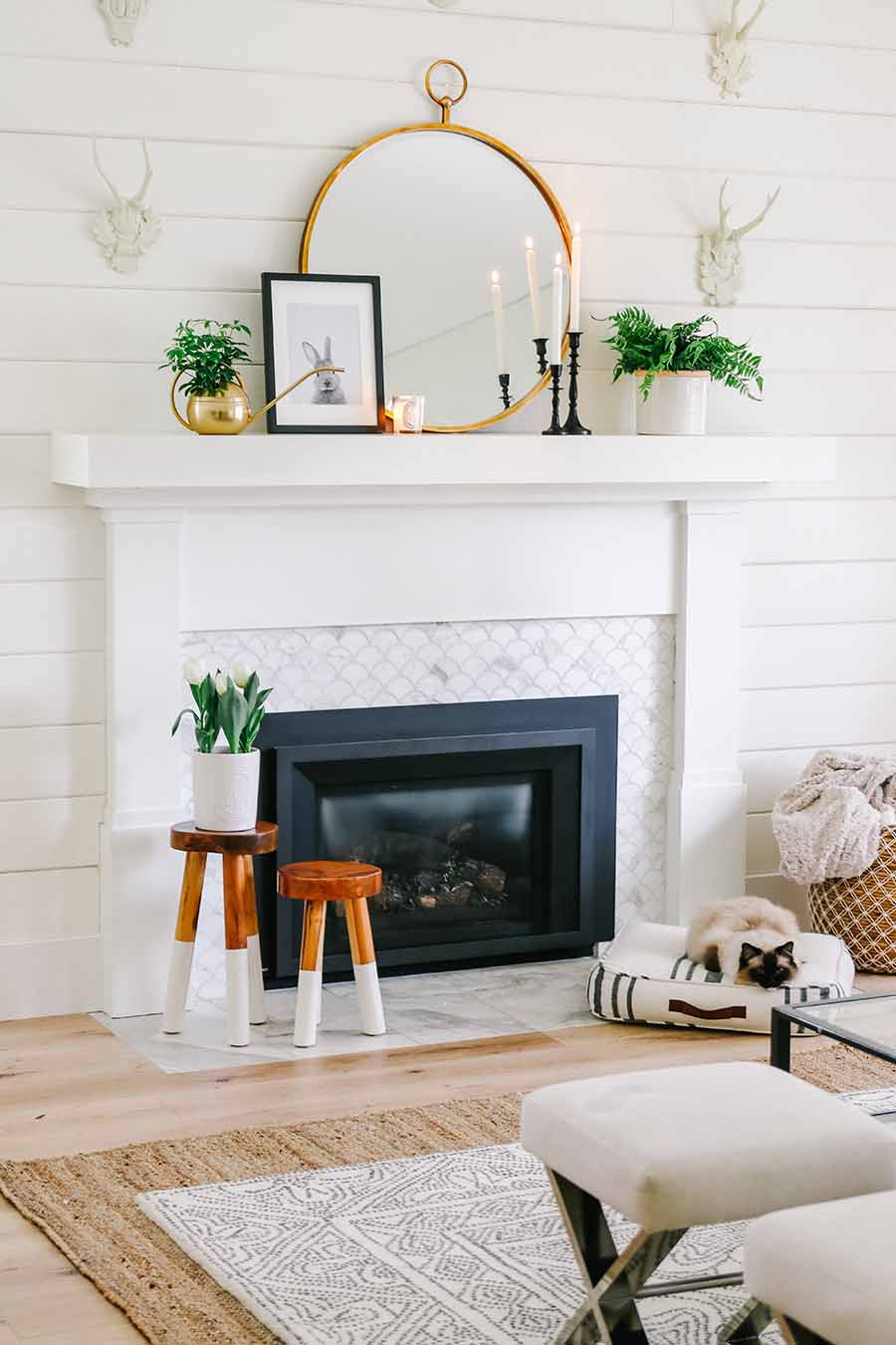 Fireplace Reflectors Fresh 5 Simple Spring Decorating Ideas & Updates Modern Glam